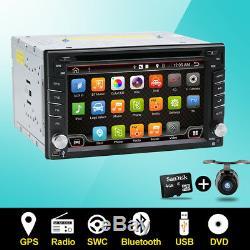 Caméra Gratuit + Lecteur DVD Stéréo Voiture Din Double Gps Gps Nav Nav Wifi Bluetooth