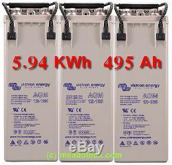 Camping-car 5.94 Kwh 495 Ah 12v Kit De Batterie Depression Du Cycle Profond Livraison Gratuite Au Royaume-uni