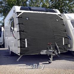 Caravane Avant Couverture De Remorquage Protecteur Universel Libre Led Lumières Gris Foncé 004