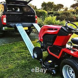 Chargement En Acier 400kg Ramps 1.8m Remorque Camion Fourgon Moto Ride On Tondeuse