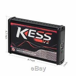 Chiptuning Kess V2 Rouge Maître V5.017 + Ktag V7.020 Ecu Programmeur Obd2 En Ligne
