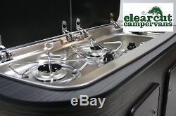 Combinaison Table De Cuisson / Évier Et Robinet Vw T5 Camper Smev 9222 R / H + Allumage Piézo-électrique