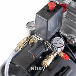 Compresseur D'air À Entraînement Direct Sgs 50 Litres Avec Bobine De Tuyau Intégrée 9,5cfm, 2,5