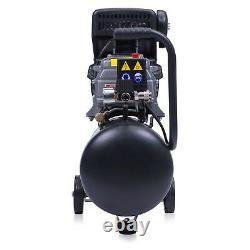Compresseur D'air De 24 Litres 9,6 Cfm, 2,5 HP 8 Barre Avec Des Roues Puissante Machine