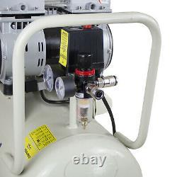 Compresseur D'air De 50 Ltr Litre Silencieux 2 X 750w 2hp 100psi 7bar Huile Portable Gratuit