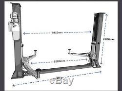 Court / Narrow 2 Poste Ascenseur Voiture Véhicule Ascenseur / Rampe Hoist 3500kgs-deux