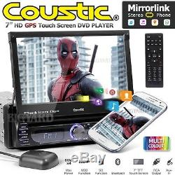 Coustic Mcx-1705 7 Unique Din Sat Nav Usb Miroir Lien Voiture CD DVD Lecteur Stéréo