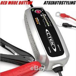 Ctek Multi Mxs 5.0 12v Smart Batterie Entièrement Automatique Chargeur Uk Plug