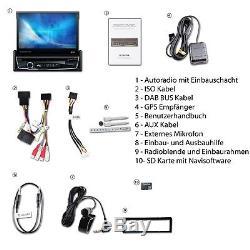 Dab + Autoradio Bluetooth 7 Mit Bildschirm Navigation Navi Gps CD Usb Mp3 1din