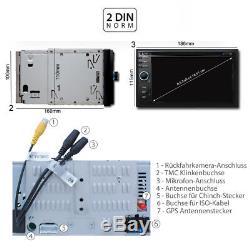 Dab + Autoradio Mit Navigation Navi Bildschirm Écran Tactile CD Usb 2din Bluetooth