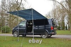 Delux Sun Canopy Auvent Vw Camper Van Motorhome Camper Car 2.4m X 3m Gris Foncé
