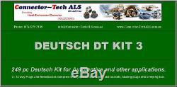Deutsch Dt Kit De Connecteur 249pc Avec Outil À Sertir Automotive # Dt-kit3-tr
