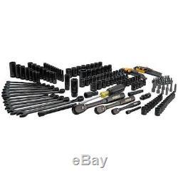 Dewalt 181 Mécanique Piece Kit Outil Spanner Jeu De Douilles À Cliquet Chrome Noir Nouveau