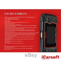 Diagnosegerät Icarsoft Cr Pro Scanner Obd2 + Service En Ligne Deutsch