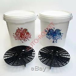 Dodo Juice Car Wash & Rinse Seaux, 20 Litres, Grit Garde De Inc Barrières & Couvercles