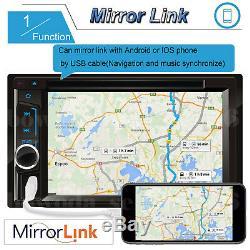 Double Din 6.2 Tableau De Bord Voiture Radio Stéréo CD Lecteur De DVD Fm / Usb / Sd Mp3 Bluetooth