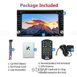 Double Din 6.2 Voiture Stereo DVD Player Sat Navi Gps Mirror Link Usb Radio Avec Map