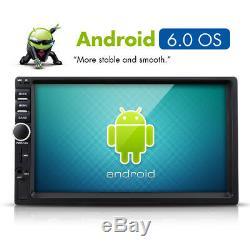 Double Din 7 Android 6.0 Voiture Stéréo Sat Nav Gps Wifi Lecteur Am Fm Radio + Caméra