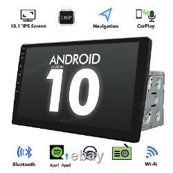 Double Din Android 10 Voiture Stéréo 10.1 Head Unit Gps Sat Nav Dab+ Apple Carplay