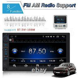 Double Din Android Car Stereo Head Unité Radio + Satnav Wifi Usb Fm Am Player