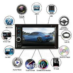 Double Din Car Stereo DVD Miroir Lien 6.2inch Hd Usb Caméra Radio +