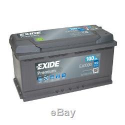 Exide Ea1000 Prime 100ah 900cca 12v Type De 017 Voiture Garantie Batterie 4 Ans