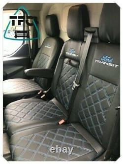 Ford Transit Custom Seat Couvre 2+1 Cuir Eco Complet Et 3 Logos