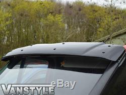 Ford Transit Mk7 2007-2013 Noir Bonnet Wind Bug Deflector Protecteur Et Pare-soleil
