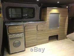 Ford Transit Personnalisé Swb Camper Van Kitchen Light Unit Driftwood Légère Ply