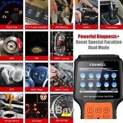 Foxwell Nt650 Epb Scanner Multi-système Tps Dpf Tpms Réinitialiser Obd2 Outil De Diagnostic