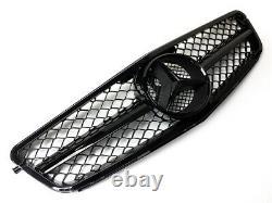 Grille De Radiateur Avant De Style Amg Pour Mercedes Classe C C204 W204 S204 Gloss Black