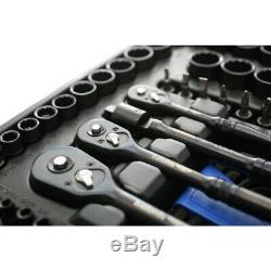Halfords Avancée 200 Pc Bf Limited Edition & Socket Ratchet Spanner Set Noir