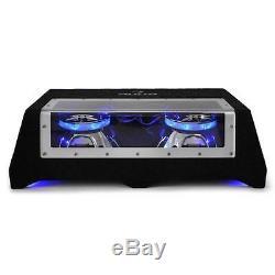 Haut-parleur Subwoofer De Voiture Audio Double Lumière Led Passive 2x 2x 12 Pouces Bass Box 800w Rms