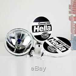 Hella Fernscheinwerfer Set Comet 500 12v 55w H3 Scheinwerfer 163mm D'encre Kappen