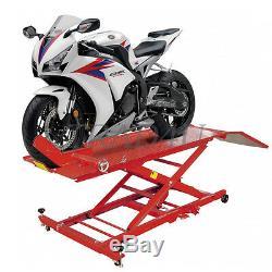 Hydraulique Moto Moto Vélo Ascenseur Rampe Service Boutique Banc 1000 Lbs 450kg
