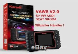 Icarsoft Evf V2.0 Für Vag Vw Audi Seat Skoda Obd Diagnostiques Service Rückstellung