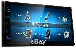 Jvc Kw-m25bt Doppel-din Mp3 À Écran Tactile Usb Ipod Autoradio Aux Bluetooth