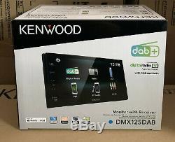 Kenwood Dmx-125dab 6.8 Bluetooth Dab + Tactile Voiture Android Stéréo Et Dab Nouveau Aérienne