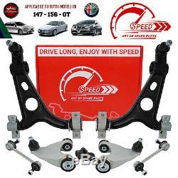 Kit Bracci Sospensione Anteriori Alfa Romeo 147 156 Gt 8pz. Rinforzati Vitesse