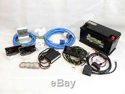 Kit Complet De Conversion De Câblage Électrique Camper Van 12v Et 240v + Batterie De Loisir