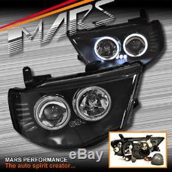 La Tête Noire De Projecteur D'oeil De Ccfl Allume Des Lumières Pour Mitsubishi Triton 06-15 2dr 4dr