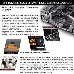 Lancement X431 Creader VII + Pro Obd2 Eobd Scanner Outil De Diagnostic Abs Airbag Srs At