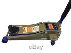 Liftmaster 3 Tonnes Heavy Duty Ultra Low Profile Acier Jack Étage Avec Ascenseur Rapide