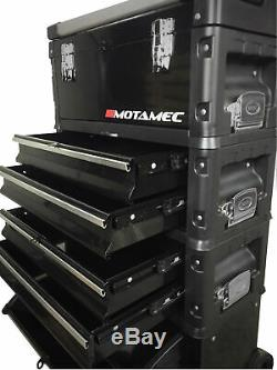 Motamec Outil Modulaire Boîte Chariot Mobile Panier 4 Module Pile Cabinet Coffre C41h