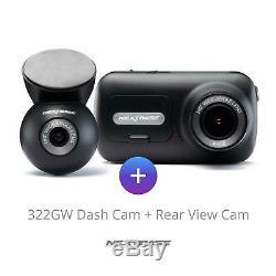 Nextbase 322gw Avant Et Arrière Dash Cam Bundle Caméra Night Vision