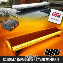 Nouvelle Led Amber Bar Strobe Beacon Recovery 120cm 1200mm 48 1.2m