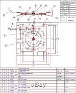 Nouvelle Plate-forme Tournante Universelle Pivotante Motorhome / Bus / Bateau / Tracteur / Van / Camper / Camion
