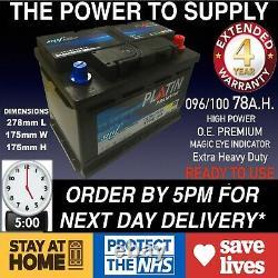 Nouvelle Véritable Oem Heavy Duty Battery Type 096 100 78ah 4 Year Guarantee 24hr