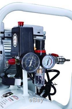 Orazio Silent Type Compresseur D'air Sans Huile 50l 2 Moteurs Garage Atelier Clinique