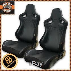 Paire Bb6 Rs Universal Design Reclining Titrage Seau Sport Racing Seats Noir